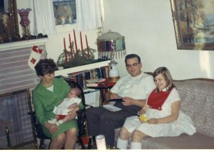 a few weeks after my adoption, Christmas 1968