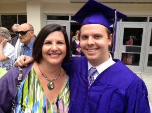 At Eric's graduation from college in 2012