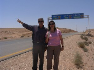 as close as I've been to Iraq. (With our Syrian bus driver)