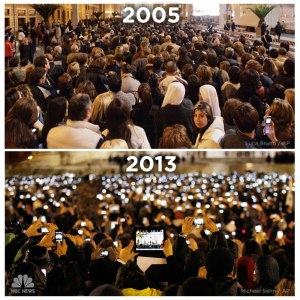 This image from NBC news illustrates how ubiquitous our devices have become.
