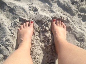 I like my toes in the sand