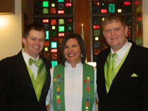 Chris and Andy and I on the day of their blessing.