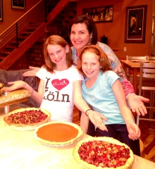 Maya, Sophia, and the awesome pies