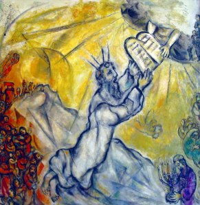 Moses by Marc Chagall image found at http://templeisraelvaldosta.org/files/2011/06/chagall_moses.jpg