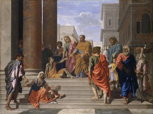 Saints Peter and John Healing the Lame Man 1655 Nicolas Poussin