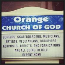 Orange you glad you don't go to this church?