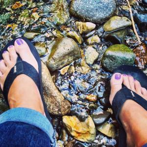 journaling with my toes in the river--always a good day