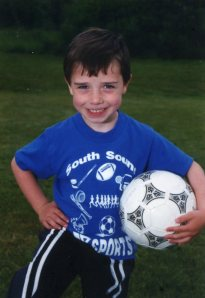 soccer player, age 3