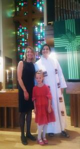 Kate and Jumelle after their baptisms