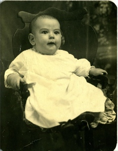 as a baby, at least, I looked a lot like my birth father. Photo of Ken McCourt from 1914.