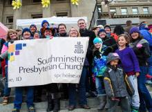 Southminsterians at the Add the Words rally Jan 2015.