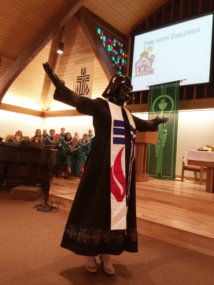 Rev. Vader made an entrance