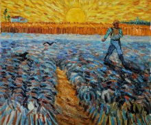 Sower with Setting Sun by Vincent Van Gogh OSA429