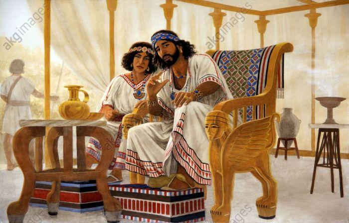 Le roi Salomon et sa mère Bethsabée